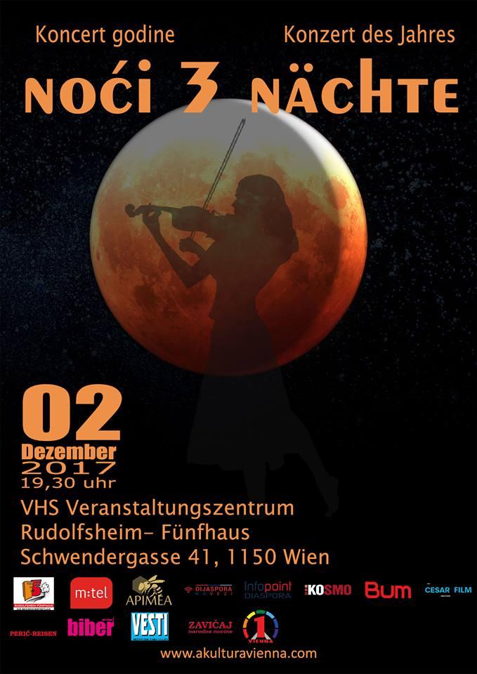 """Koncert godine """"3 noći"""" u subotu, 2. decembra"""