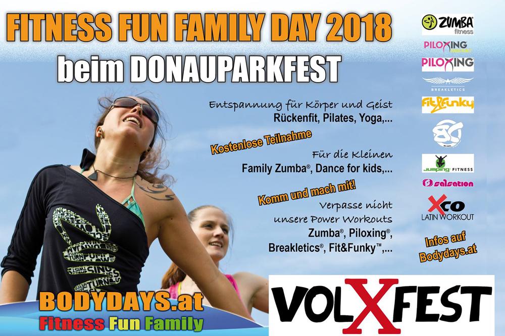 Fitnes i porodični dan na Donaupark festivalu