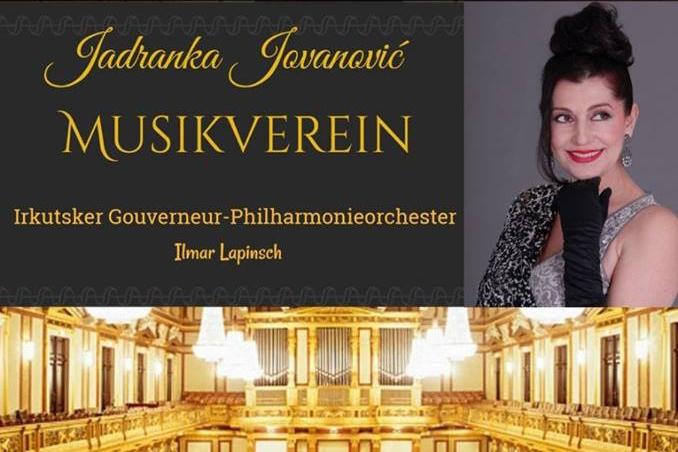 Jadranka Jovanović na pravoslavnom Novogodišnjem koncertu u Musik Verein-u