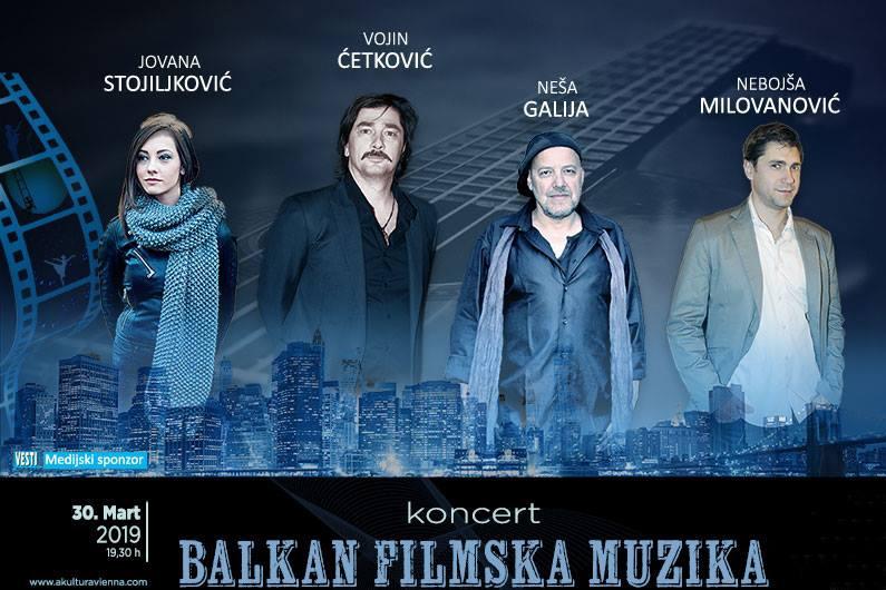 Koncert filmske muzike sa Balkana u Akzent teatru