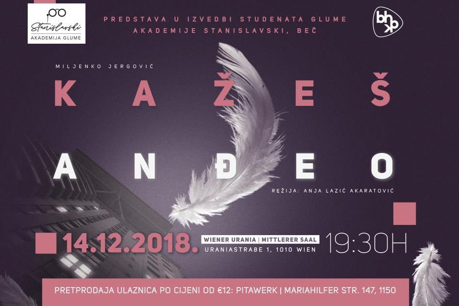 """Pozorišna predstava """"Kažeš anđeo"""" u izvođenju Akademije Stanislavski"""
