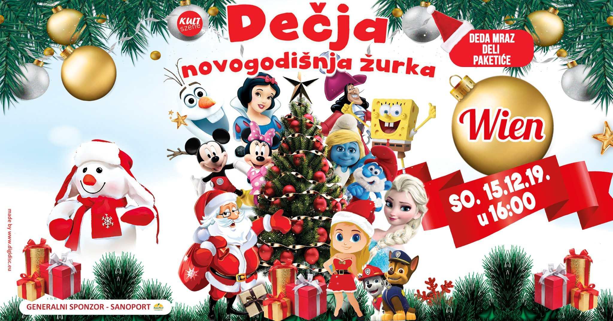 Novogodišnja žurka i pozorišna predstava za decu
